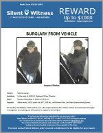 Burglary from vehicle / In the area of 1700 W. Steinway Drive, Phoenix