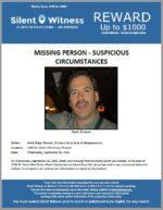 Missing Person – Suspicious Circumstances – Mark Shearer