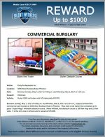 Commercial Burglary / Party Professionals Inc. 3836 W. Buckeye Rd