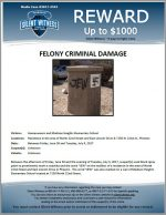 Aggravated Criminal Damage / 7150 N. 22nd St., Phoenix