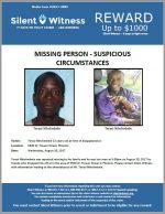 Missing Person – Suspicious Circumstances – Terasi Niholimbele