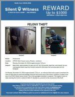 Felony Theft / 6700 N. Black Canyon Access, Phoenix