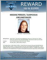 Missing Person – Suspicious Circumstance – Alissa Turney