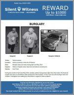 Burglaries from vehicles / Various Locations