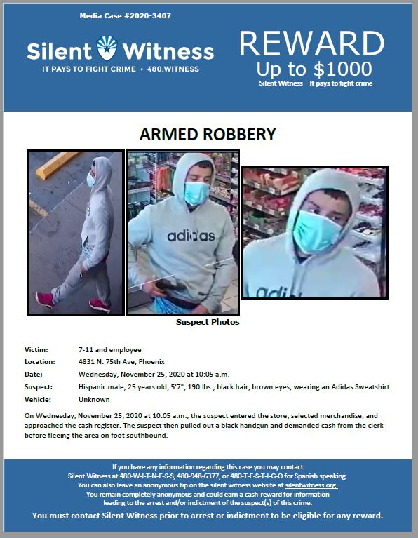 Armed Robbery / 7-11 / 4831 N. 75th Ave, Phoenix