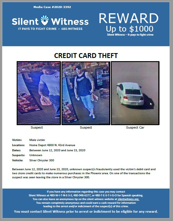 Credit Card Theft / 4800 N. 43rd Avenue