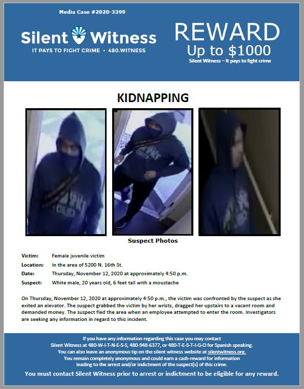 Kidnapping / In the area of 5200 N. 16th St.