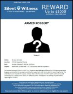 Armed Robbery / 31-year-old male / 2700 W. Augusta Ave.