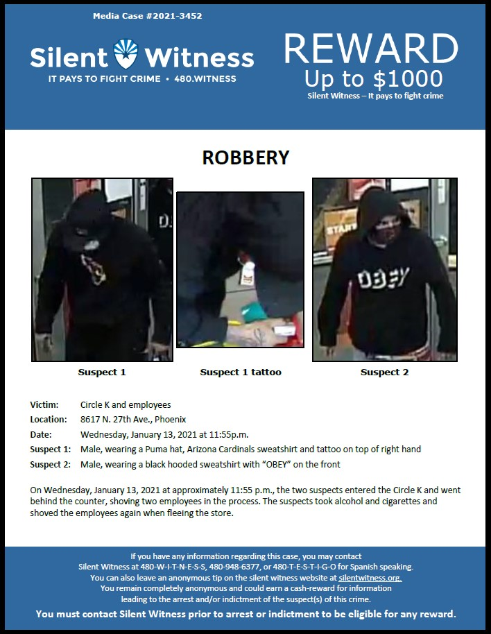 Robbery / Circle K / 8617 N. 27th Ave