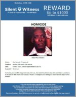 Homicide / Roy Golston / In the area 1400 South 11th Avenue