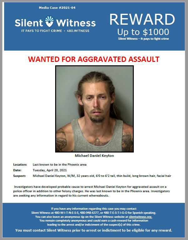 Fugitive / Michael Daniel Keyton / Last known to be in the Phoenix area