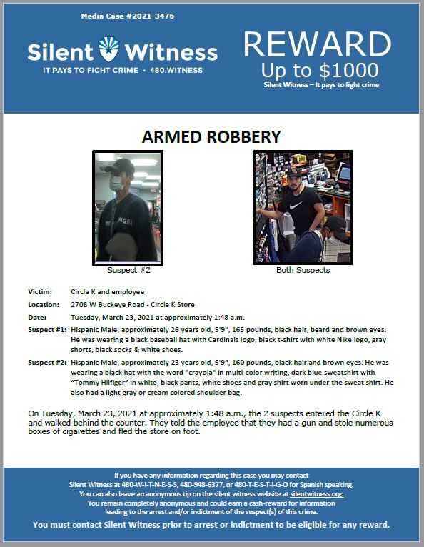 Armed Robbery / Circle K / 2708 W. Buckeye Road