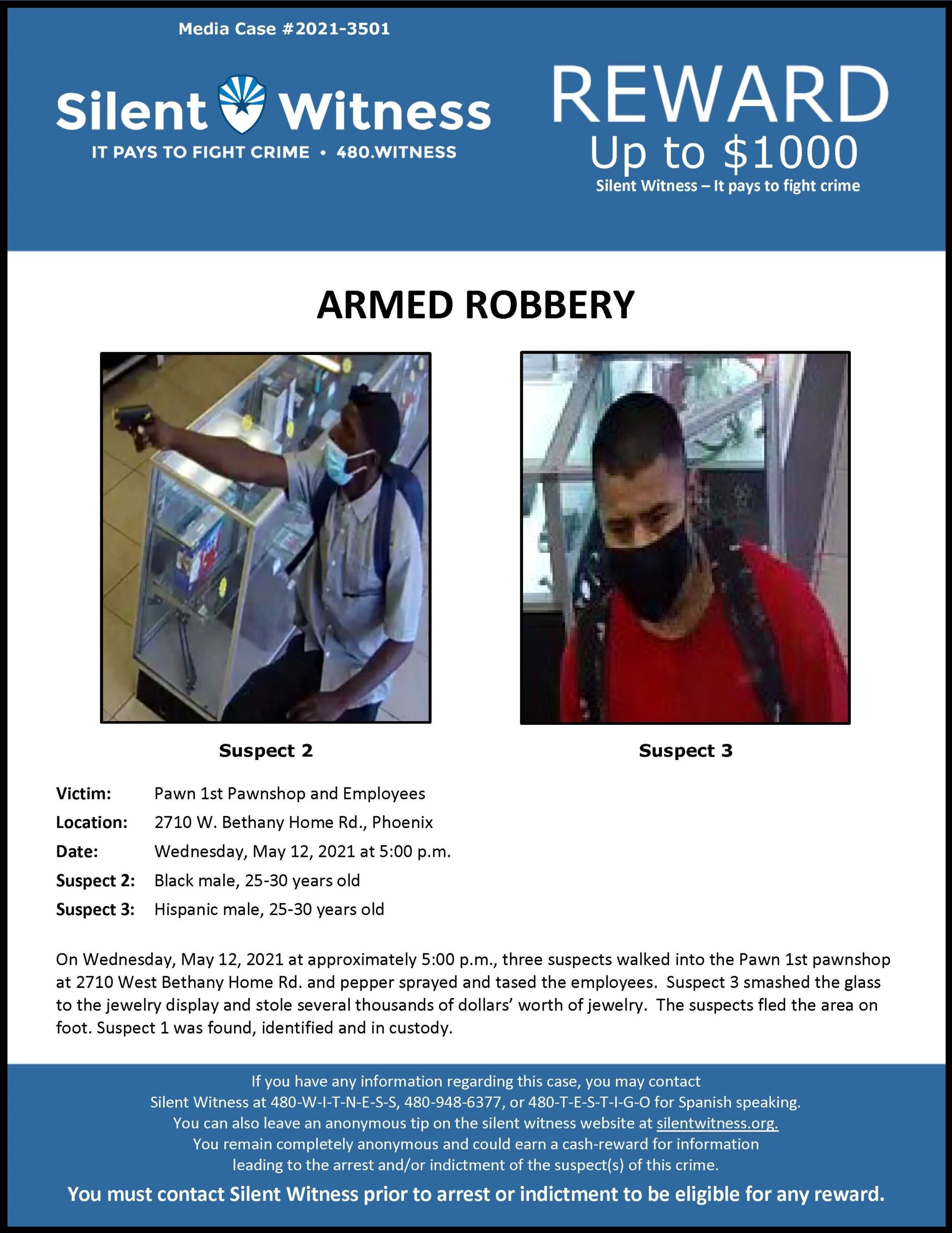 Armed Robbery / Pawn 1st / 2710 W. Bethany Home Rd.