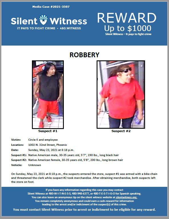Robbery / Circle K Store / 1002 N. 32nd Street, Phoenix