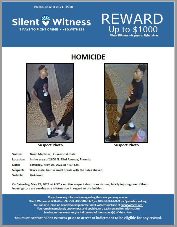 Homicide / Noah Martinez / In the area of 2600 N. 43rd Avenue, Phoenix
