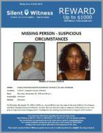 Missing Person Suspicious Circumstance / Aussie Antionette Binford / Phoenix
