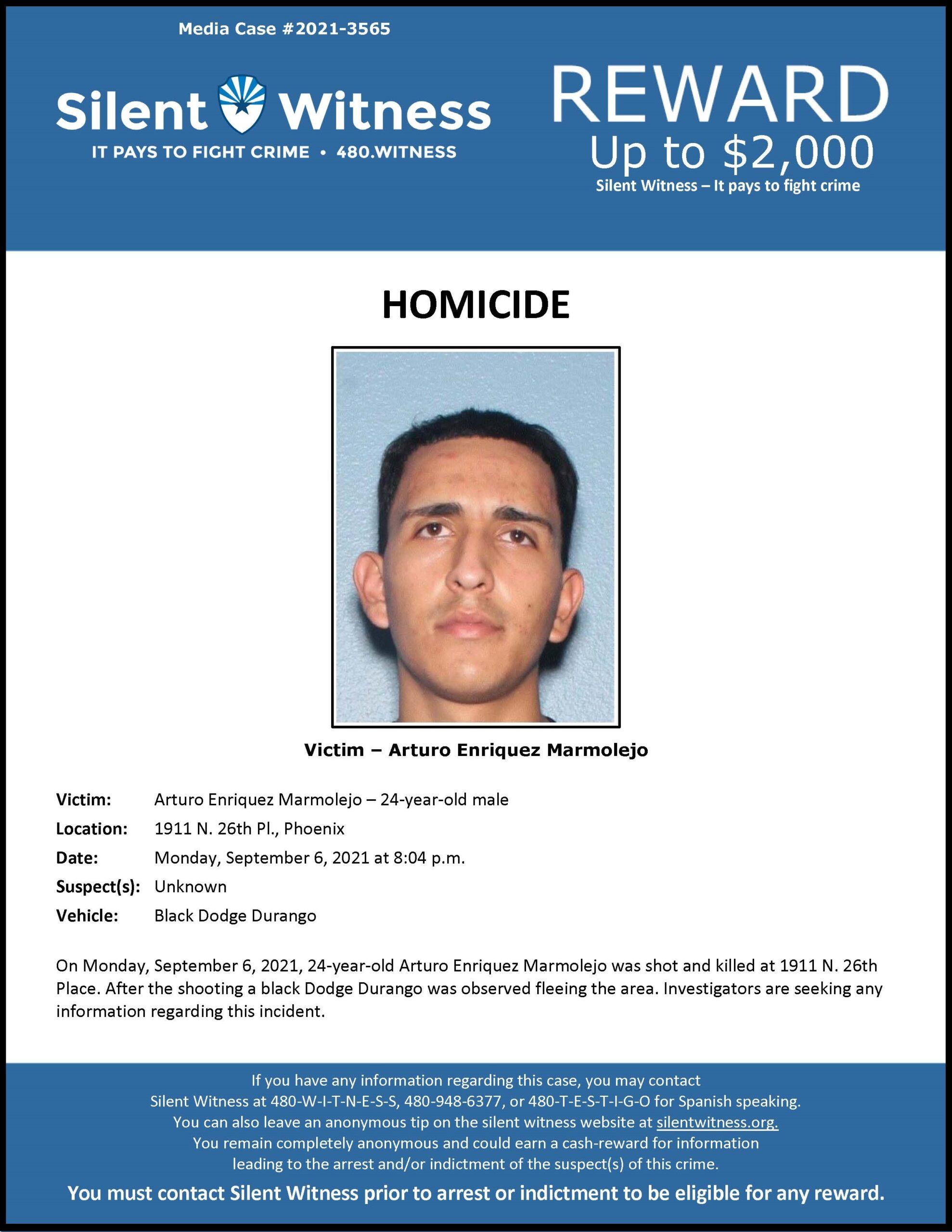 Homicide / Arturo Enriquez Marmolejo / 1911 N. 26th Pl., Phoenix