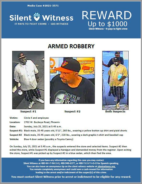 Armed Robbery / Circle K / 2702 W. Buckeye Road, Phoenix